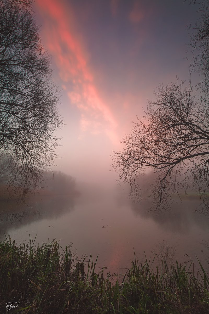 Calm, Colors, Fog, Lake, Sunrise, Руслан Болгов (Axe)