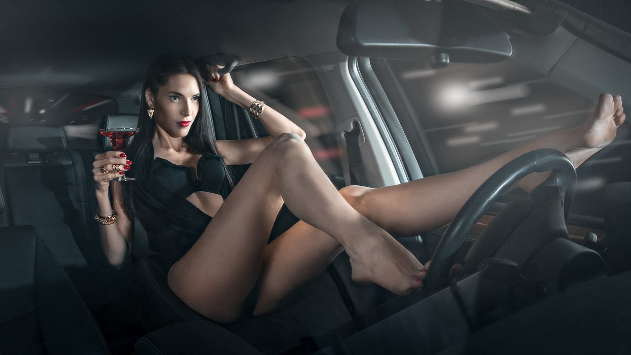 Car, Drive, Girl, Wine, Шестопалов Константин