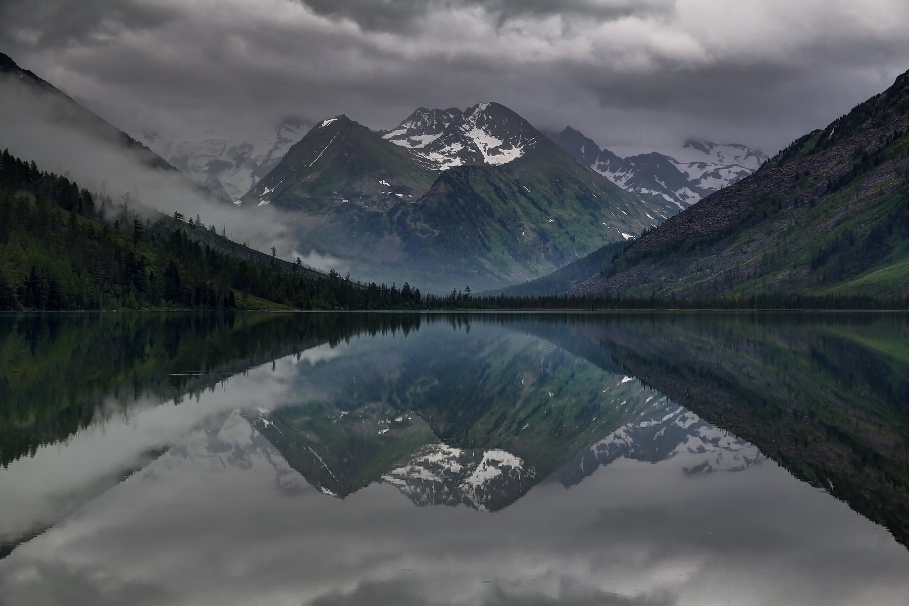 алтай, горный алтай, горы, озеро, отражение, Roman Vorobyev