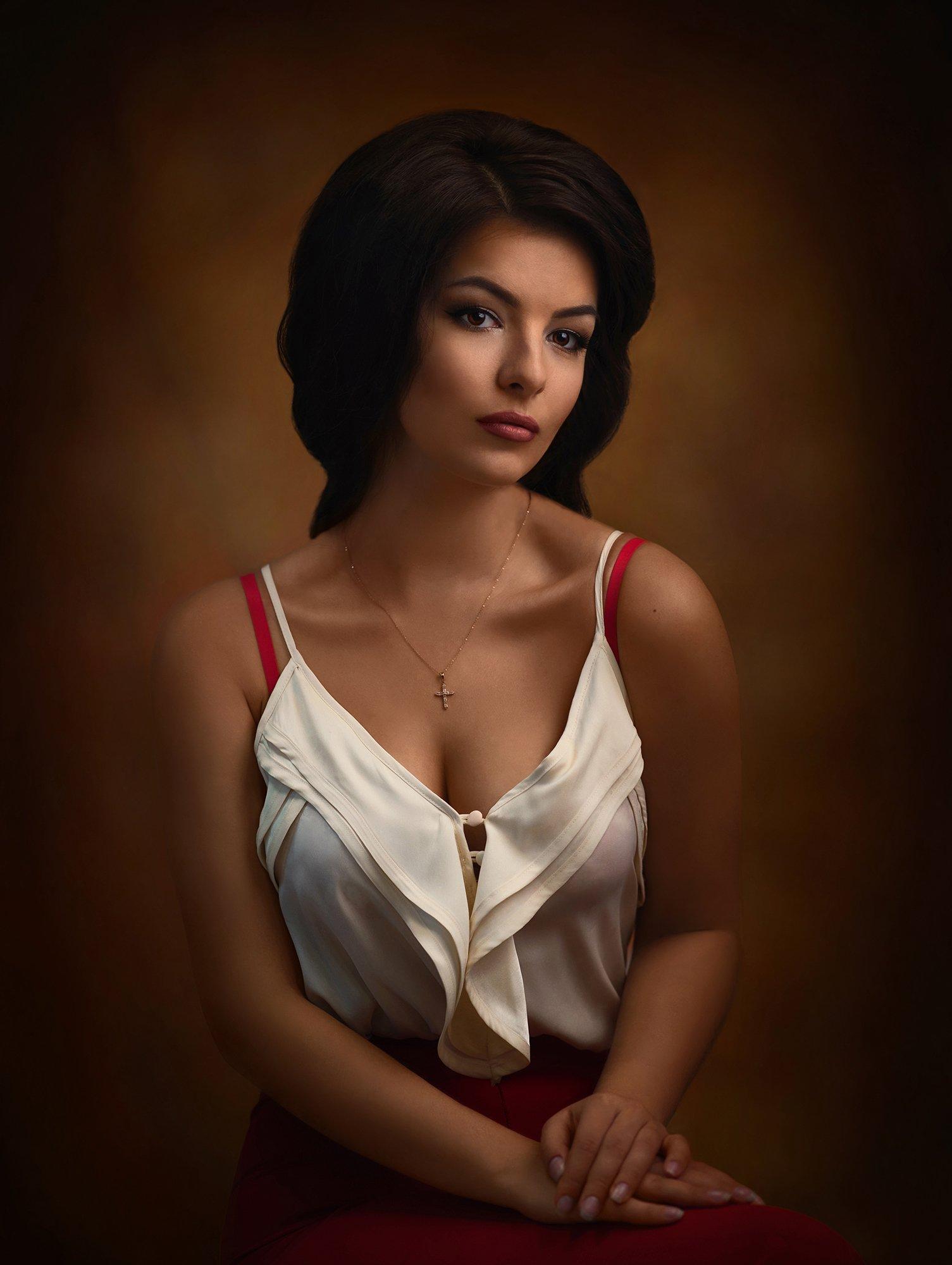 девушка, студия, портрет, взгляд, Рембрандт, Александр Жосан