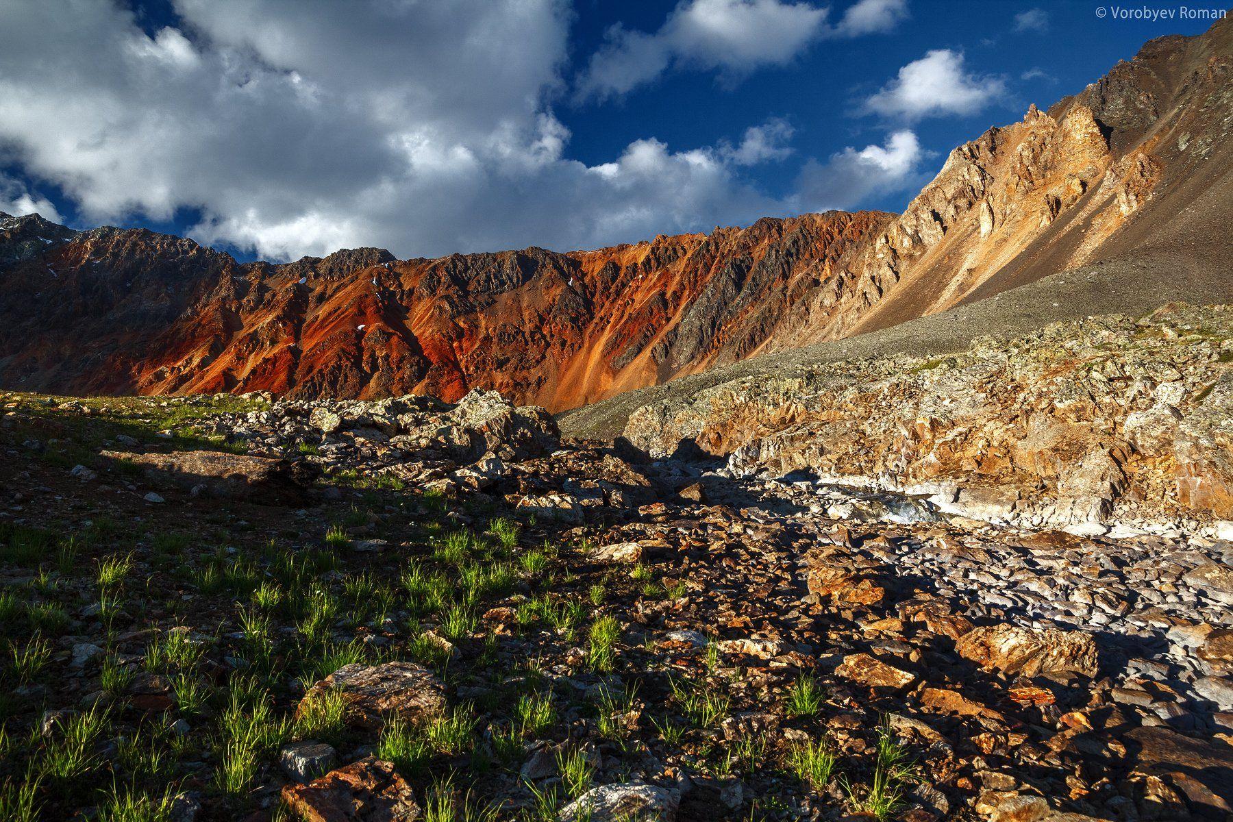 Алтай, Горный алтай, Горы, Красный, Цвет, Roman Vorobyev