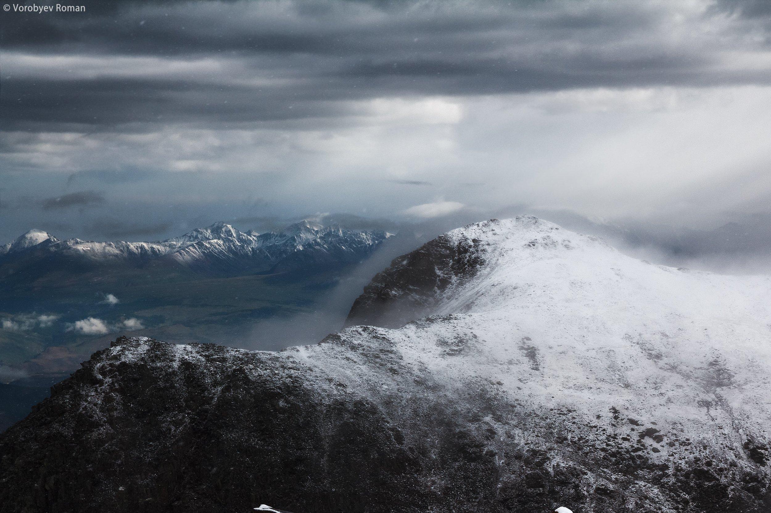 актру, алтай, горный алтай, горы, свет, снег, Roman Vorobyev