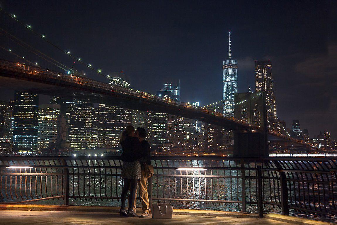 город, любовь, люди, ночной пейзаж,нью йорк,, Антонина