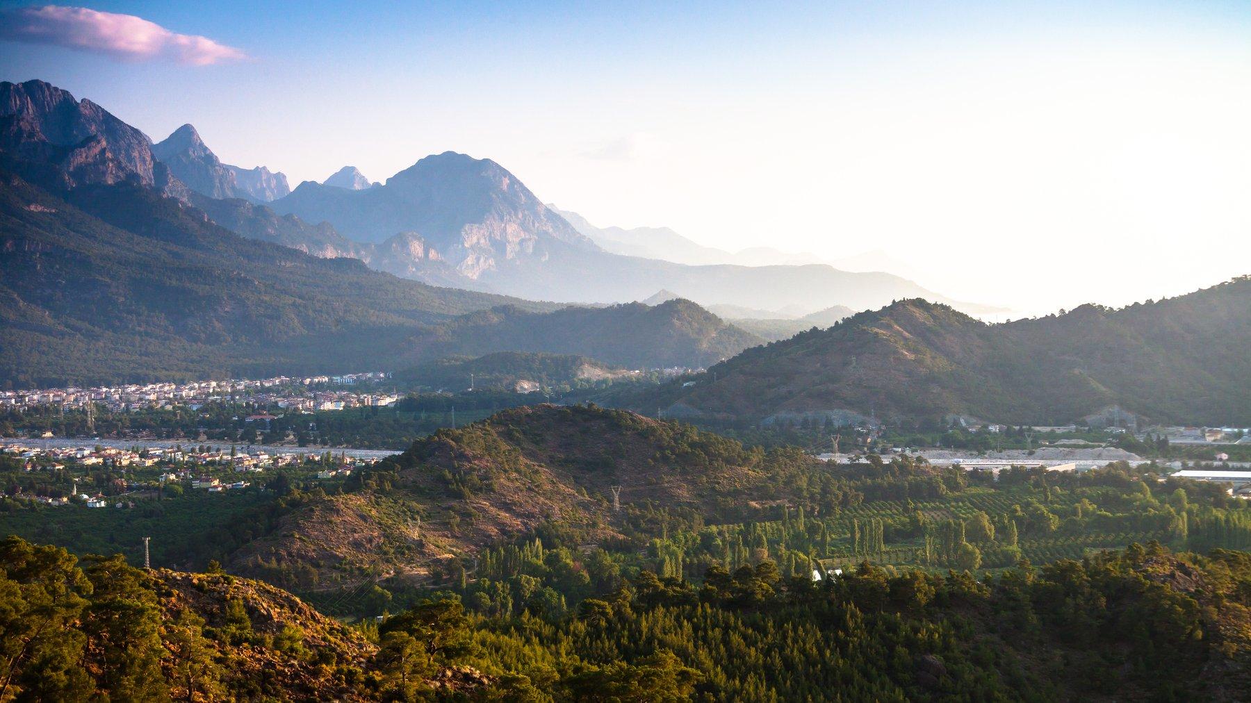 Турция, Кемер, горы, пейзаж, рассвет, красота, природа, Иван Губанов