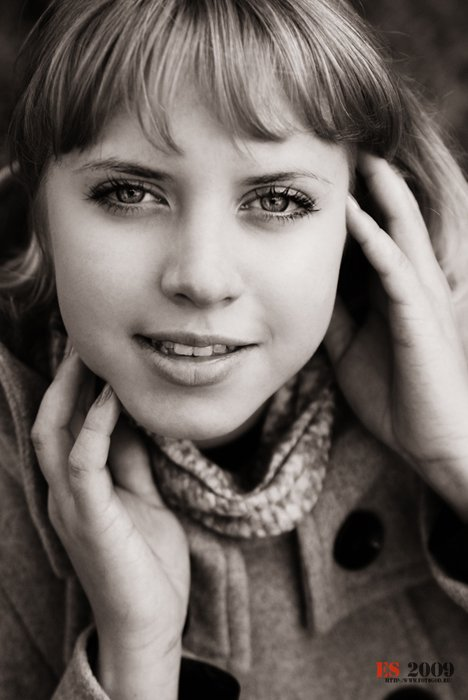 девушка, портрет, монохром, глаза, Ekaterina Samorukova