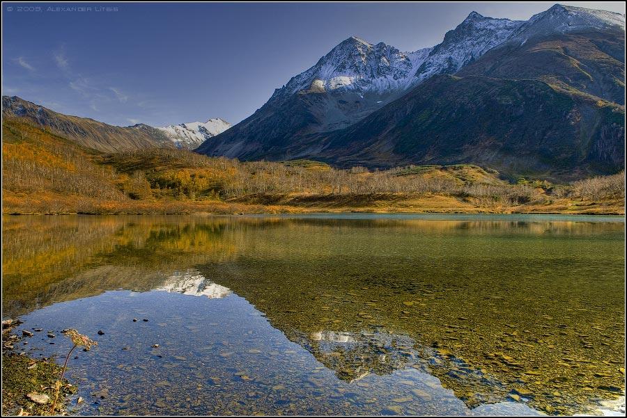 озеро,осень,горы,камчатка, Александр Лицис