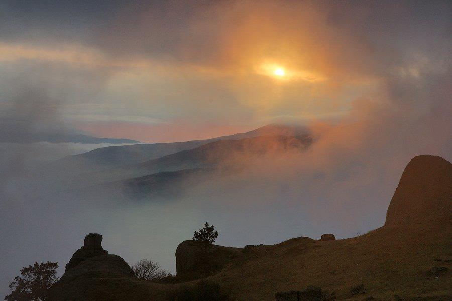 горы, облака, senjor