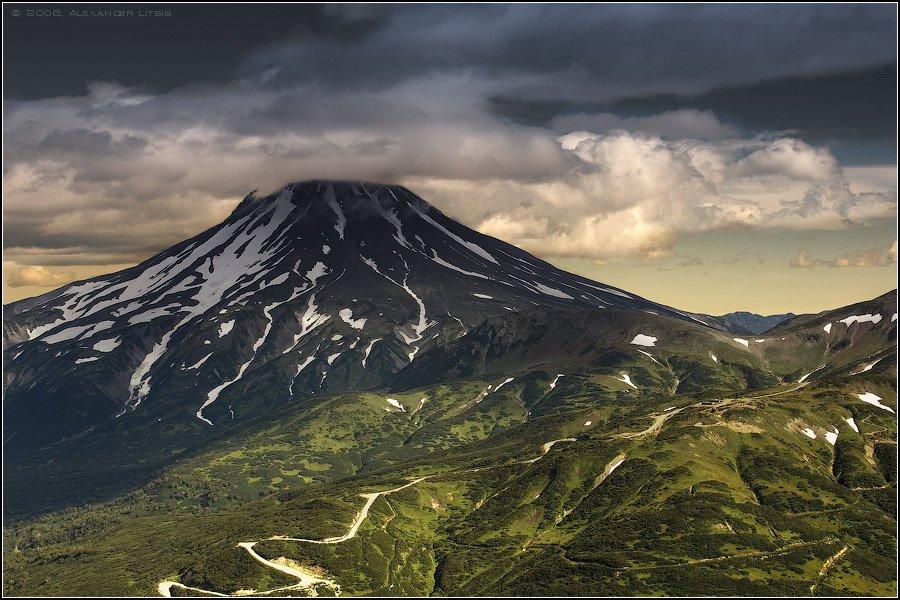 вулкан,гора,вершина,тучи,вилючинский,камчатка, Александр Лицис