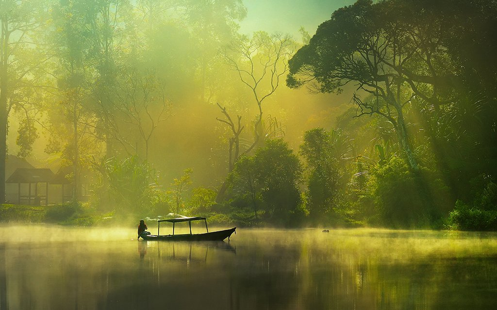 Lake, Morning, Natural light, Nature, Beni Arisandi