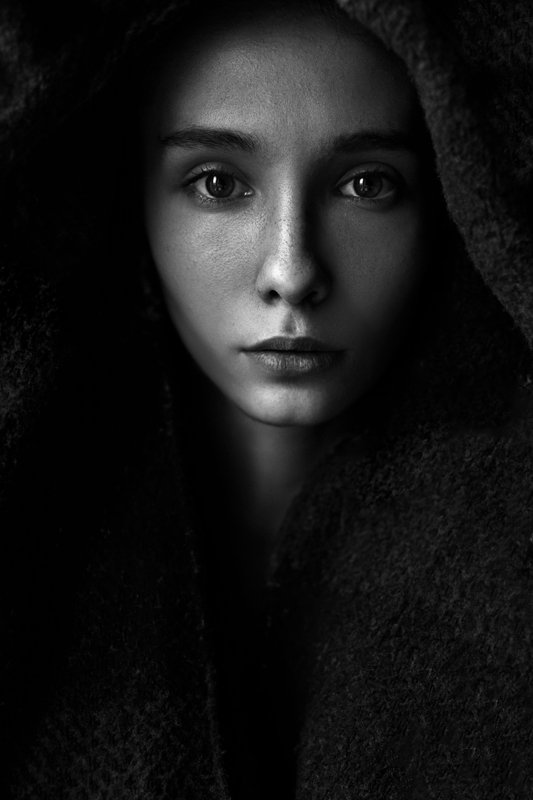Bw, Girl, Portrait, Корнеев Виктор