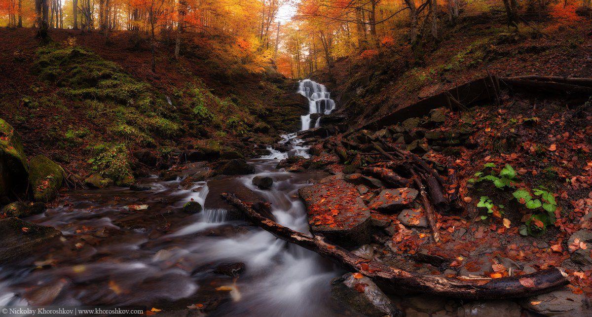 водопад, карпаты, осень, пейзаж, природа, украина, Николай Хорошков