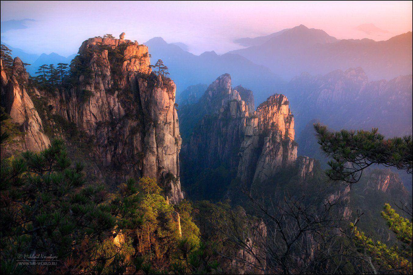 Китай, Анхой, горы, Хуаншань, пейзаж, рассвет, фототур, Михаил Воробььев
