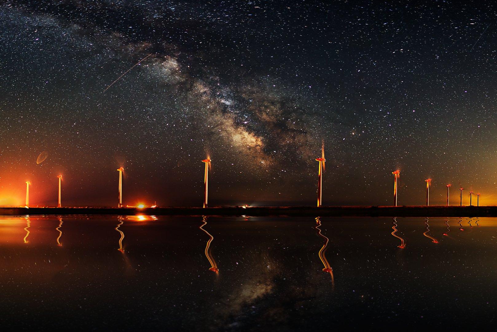 landscape, milky way, stars, long exposure, panorama, night, reflection, canon, Bulgaria, Todor Todorov