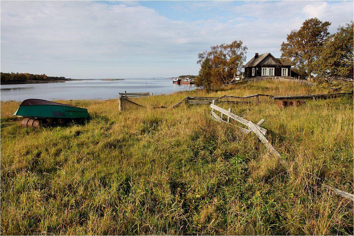 соловки, большой соловецкий остров, белое море, забор, лодка, дом, бухта,, Victor Pechenev