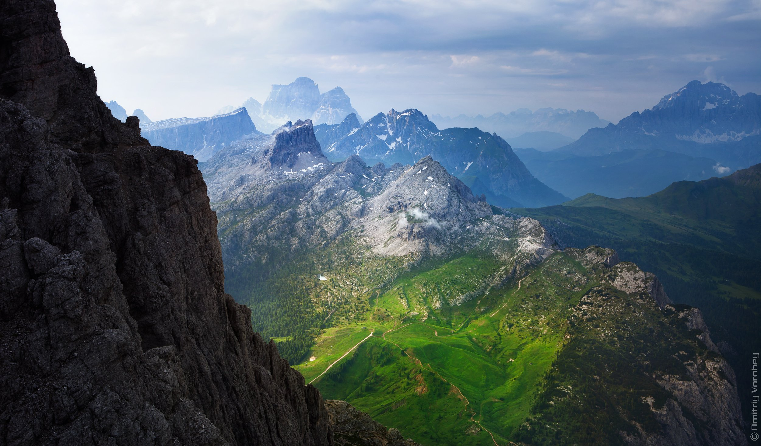 доломиты, альпы, италия, горы, луг, луга, небо, Воробей Дмитрий