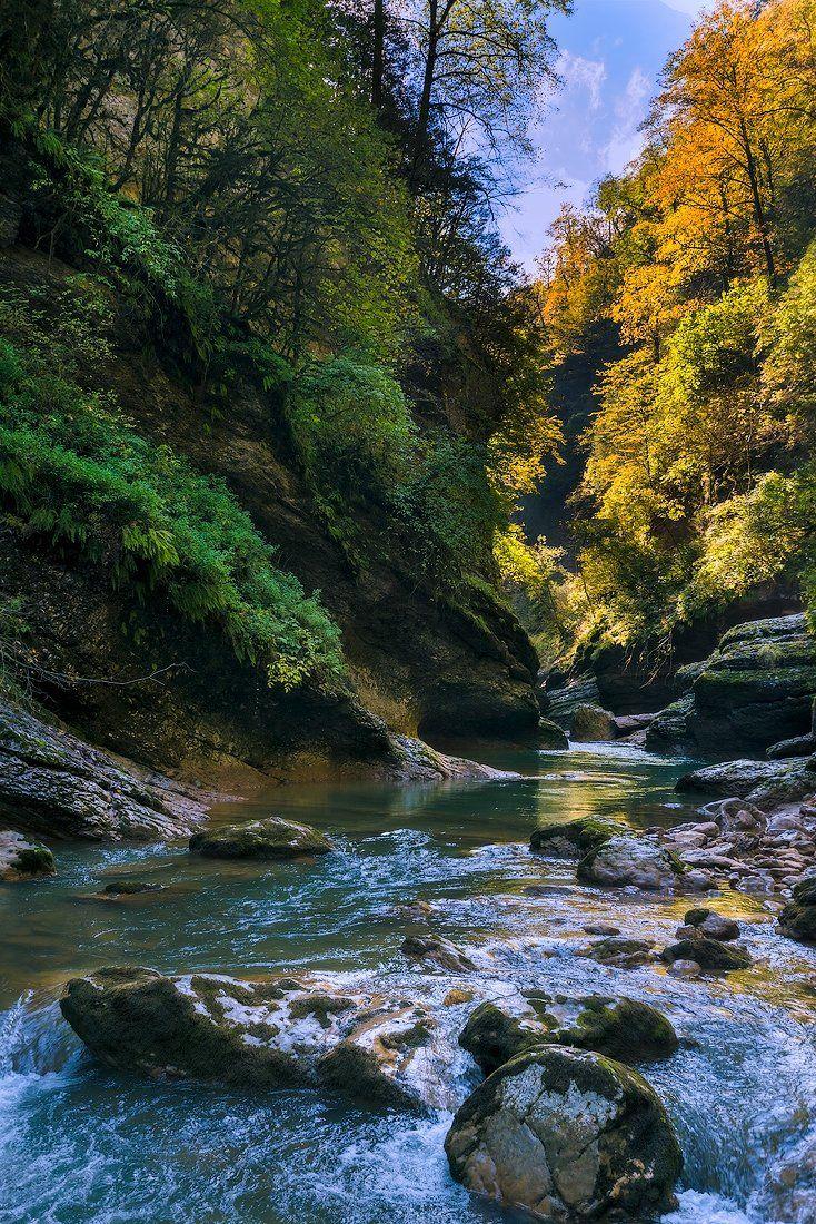 Гуамка, Гуамское ущелье, Курджипс, Мезмай, Природа, Река, Олег Скан