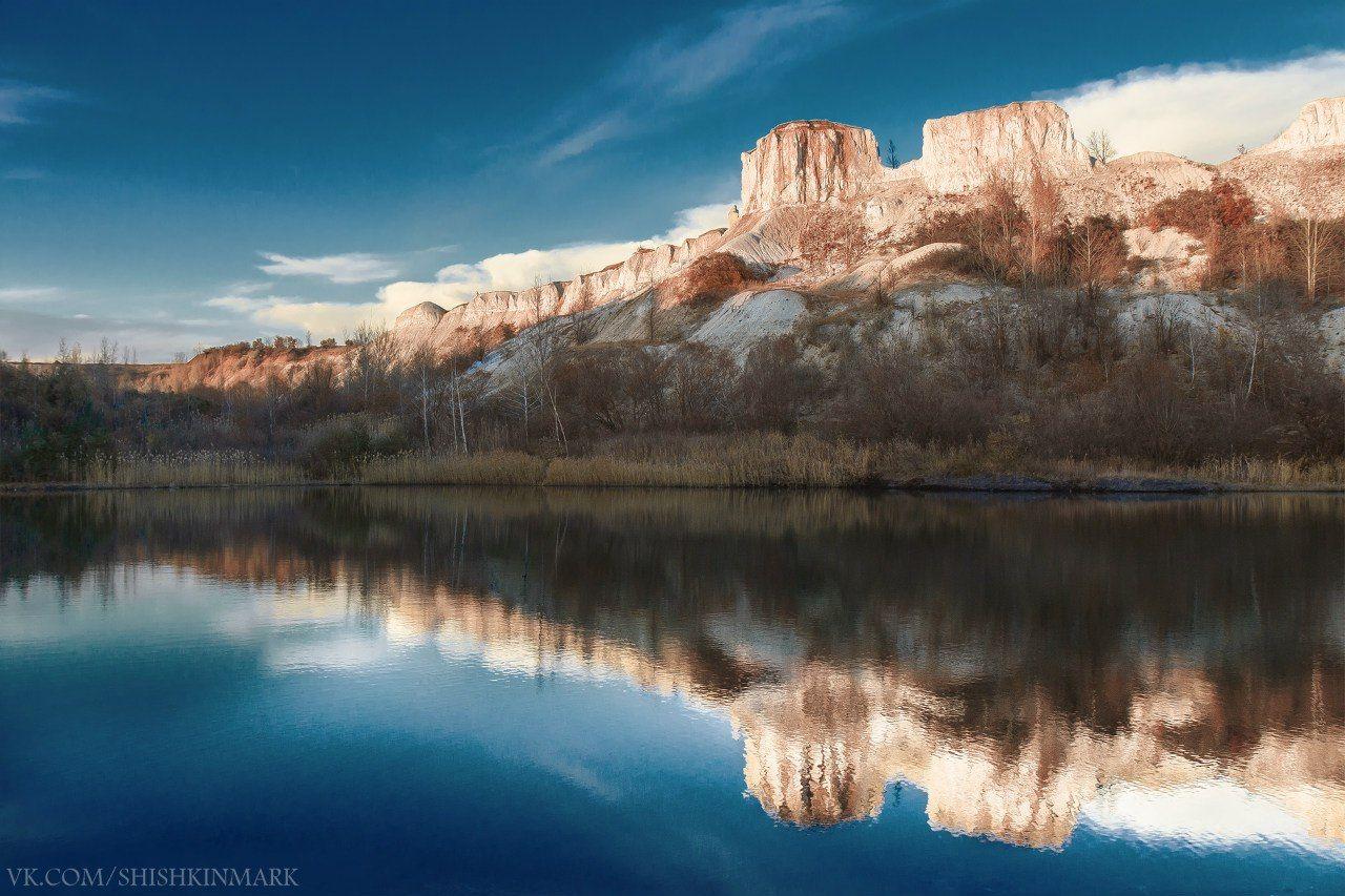 красота, пейзаж, природа, вода, отражение, отражения, горы, небо, россия, Шишкин Марк