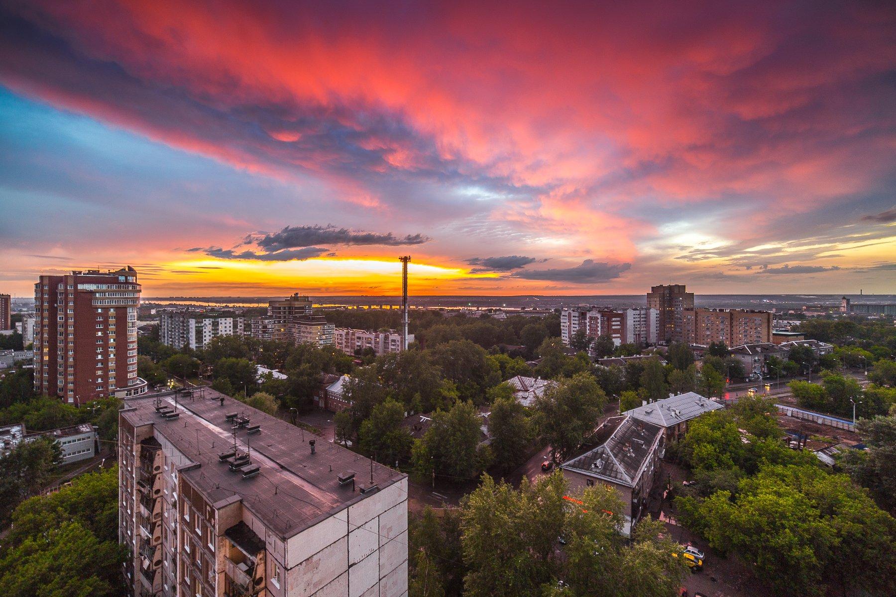 закат Пермь город, Савицкий Ян