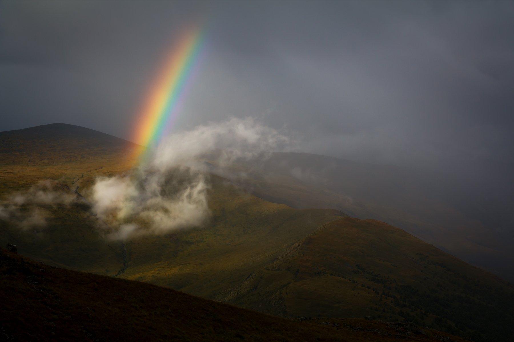 rainbow, горный алтай, горы, небо, радуга, Roman Vorobyev