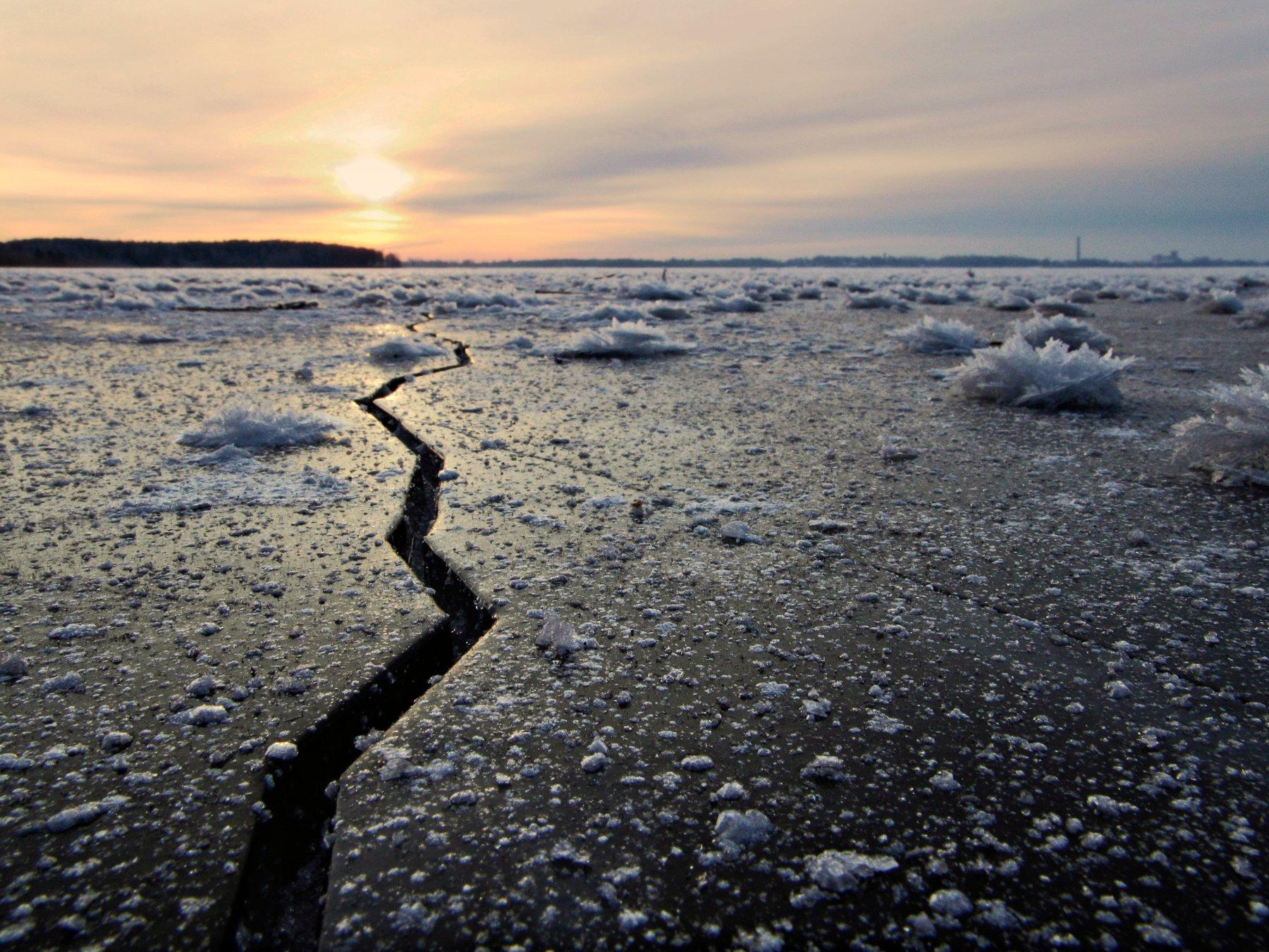 Frost, Ice, Lake, Sunrise, Zenonas