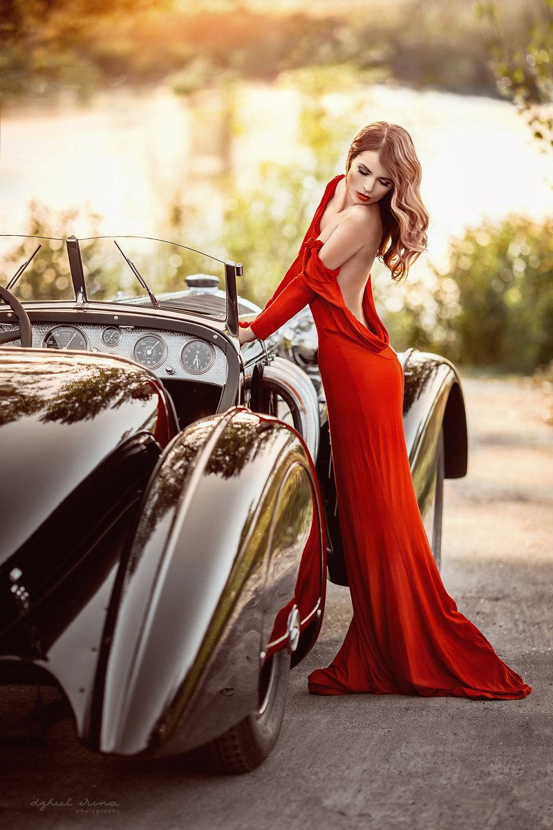 Canon, Canon 5D Mark III, Car, Dress, Dzhul irina, Girl, Irinadzhul, People, Photo, Photography, Photoshop, Popular, Portrait, Red, Девушка, Закат, Портерт, Ирина Джуль