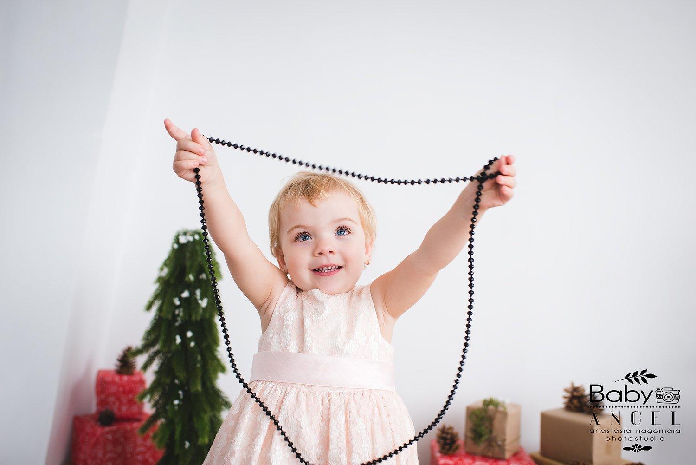 девочка,бусы,семейное фото,семья,новый год, Анастасия Нагорная