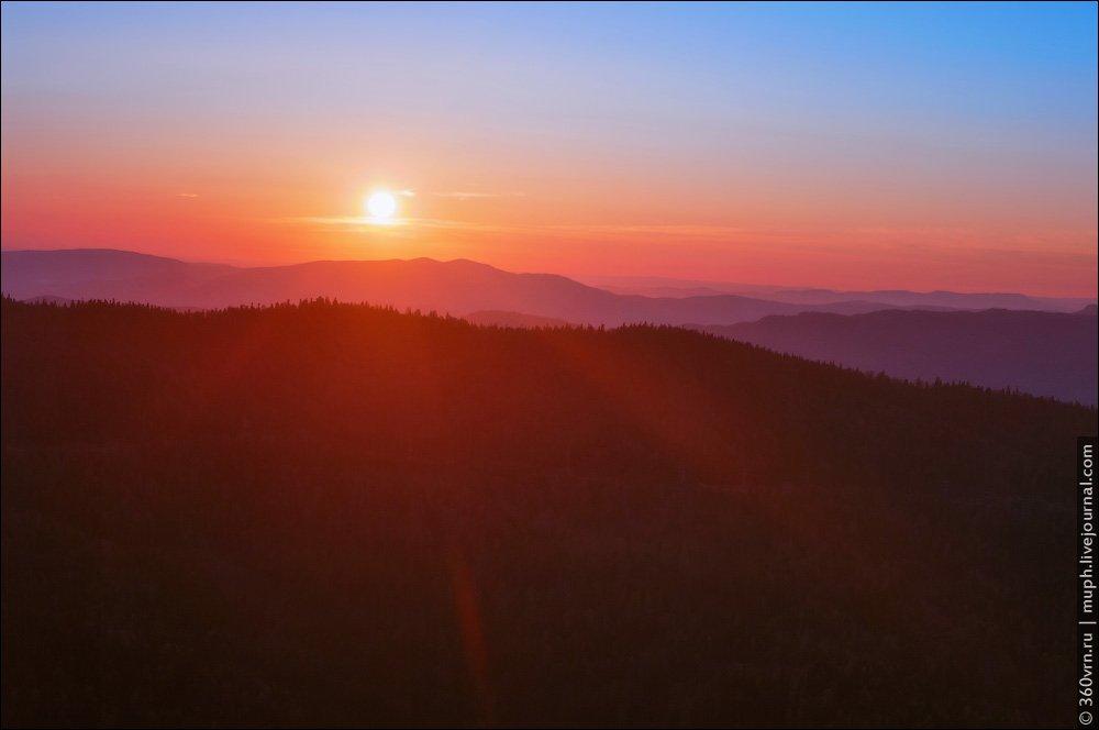 адыгея, хребет, пейзаж, рассвет, Андрей Кирнов