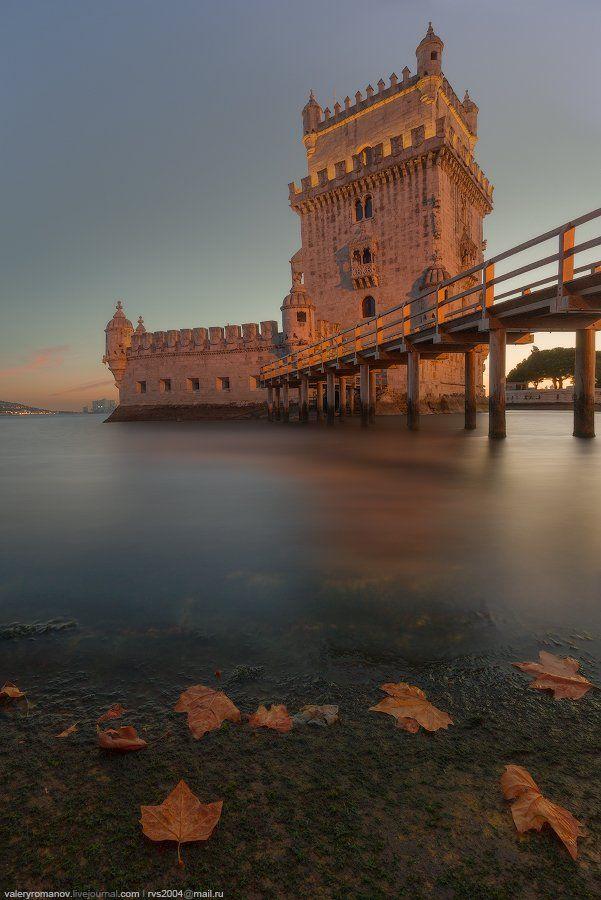 Белен, Лиссабон, Португалия, башня, река, океан, вечер, закат, город, романов, Валерий Романов