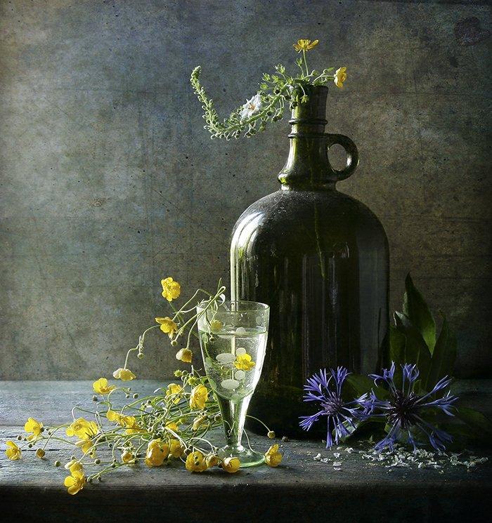 Бутылка, Натюрморт, Фотонатюрморт, Цветы, Svetlana Tkachenko