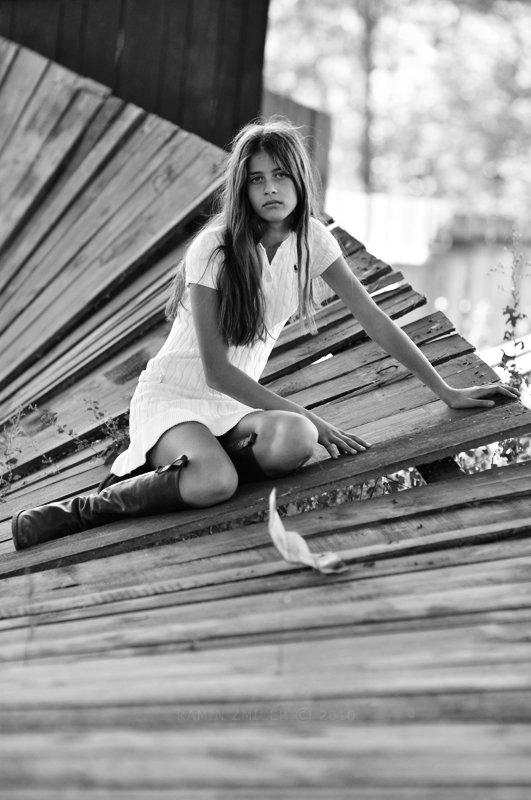 портрет, чб, девушка, лето, RAMIN ZMICER