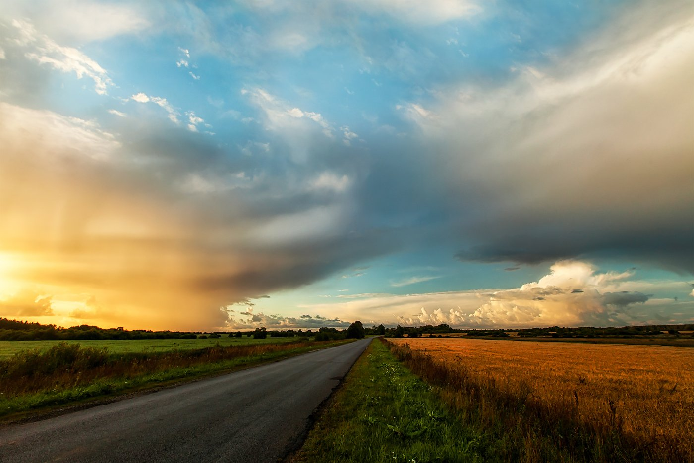 август, ключенков, облака, пейзаж, эстония, Kljuchenkow Aleksandr