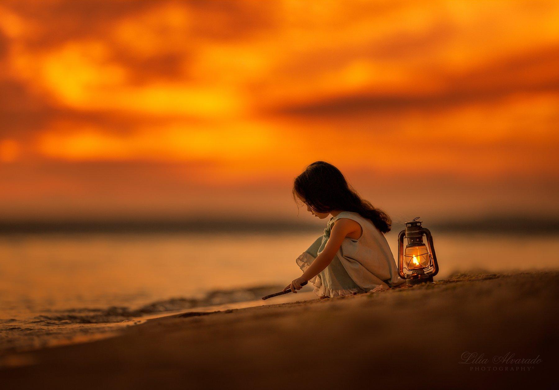 play,lantern,child,childhood,kids,children,calm,copyspace, sand,beach,lovely,water,sea,river, Lilia Alvarado
