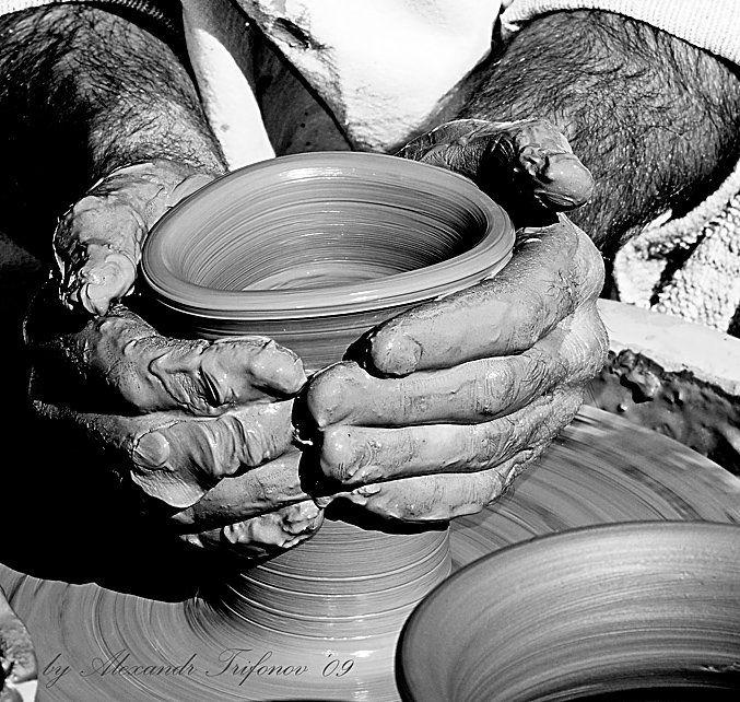 гончар, руки, глина, мастер, AlexandrT
