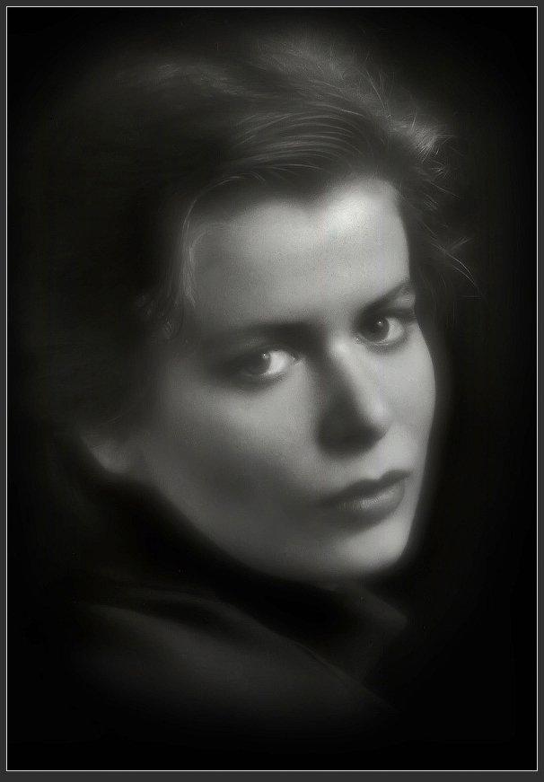 портрет, монокль, девушка, Александр Авилов