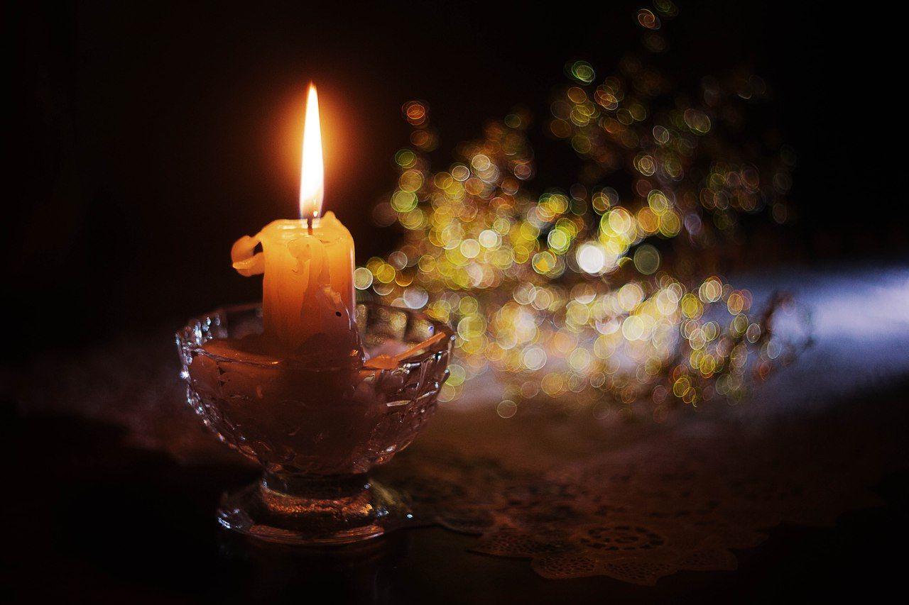 свеча свет боке огонь гелиос вечер, Афиногенова Татьяна