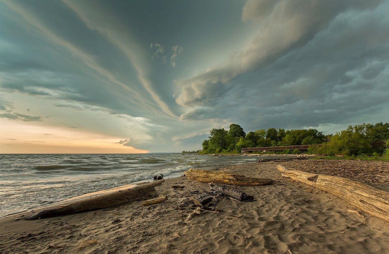 beach, lake, storm, thunderhead, twister, пляж, озеро, буря, гроза, торнадо, G A S