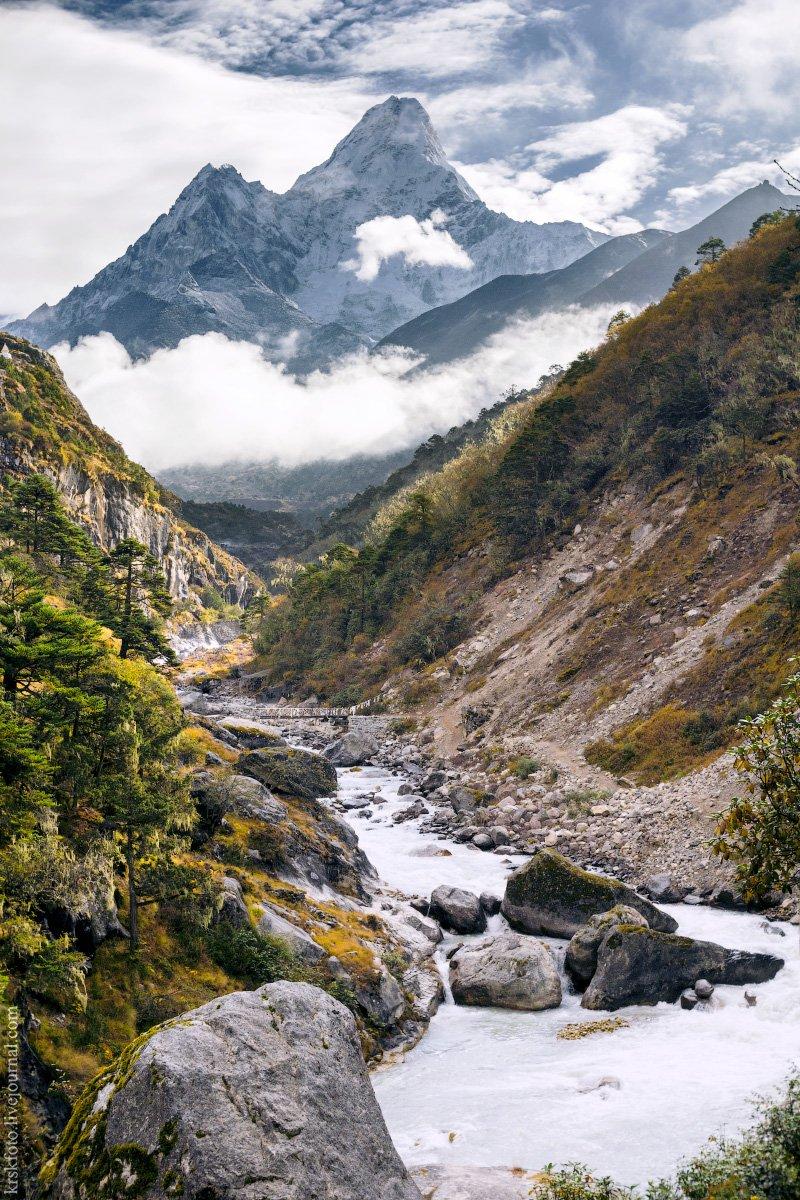 непал, гималаи, ама-даблам, осень, горы, треккинг, Илья