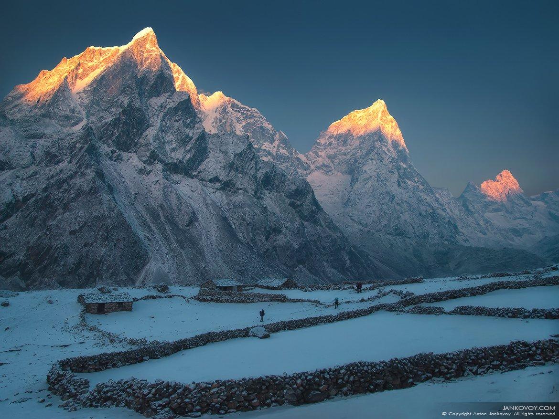 непал, гималаи, горы, трек, треккинг, снег, природа, пейзаж, путешествия, рассвет,, Антон Янковой (www.photo-travel.com)