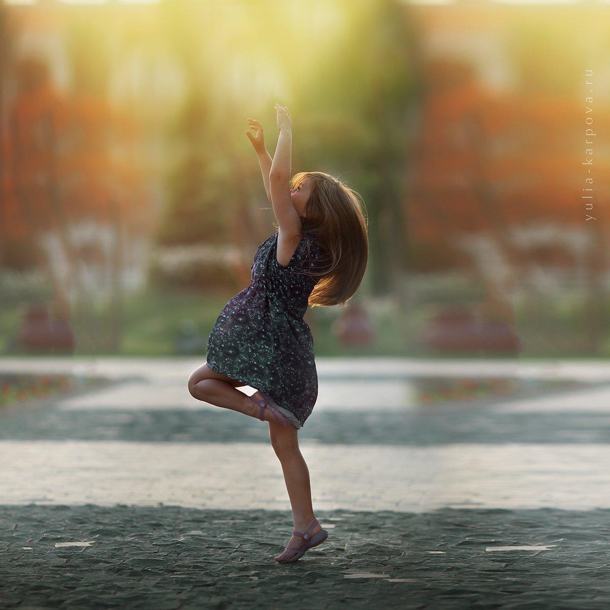 girl, light, kid, dance, Юлия Карпова