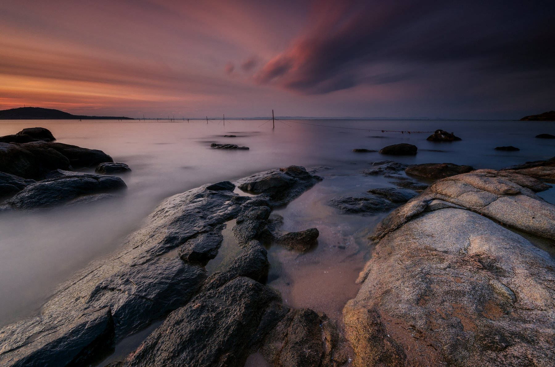 bulgaria, clouds, fineart, golden hour, landscape, lee filters, long exposure, nikon, rocks, sea, seascape, sky, sun, water, waves, Иван Димов