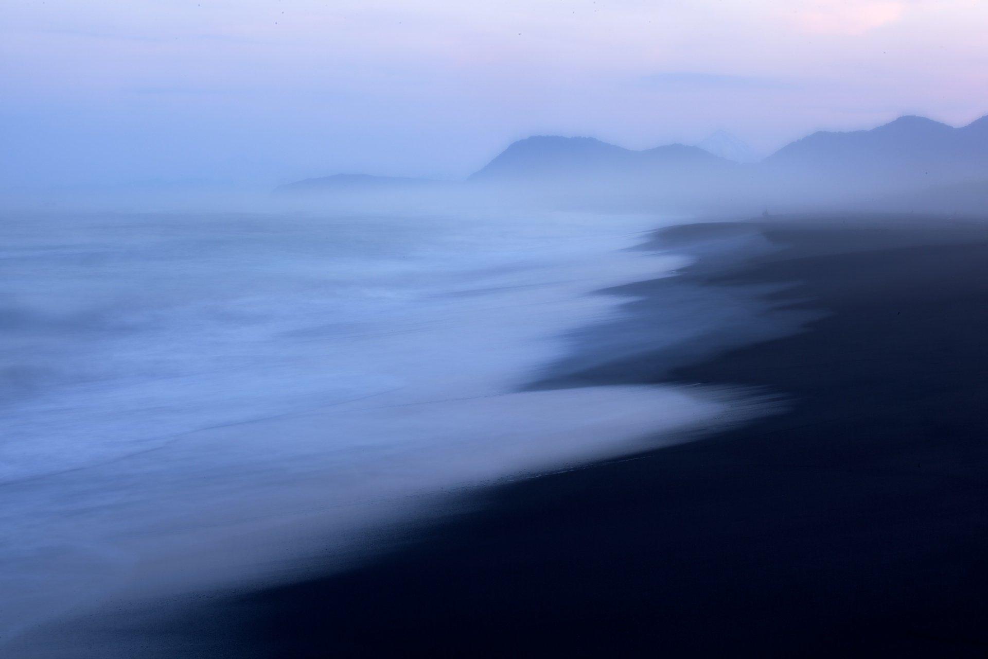 камчатка, сумерки, тихий океан, халактырский пляж, Никифоров Егор