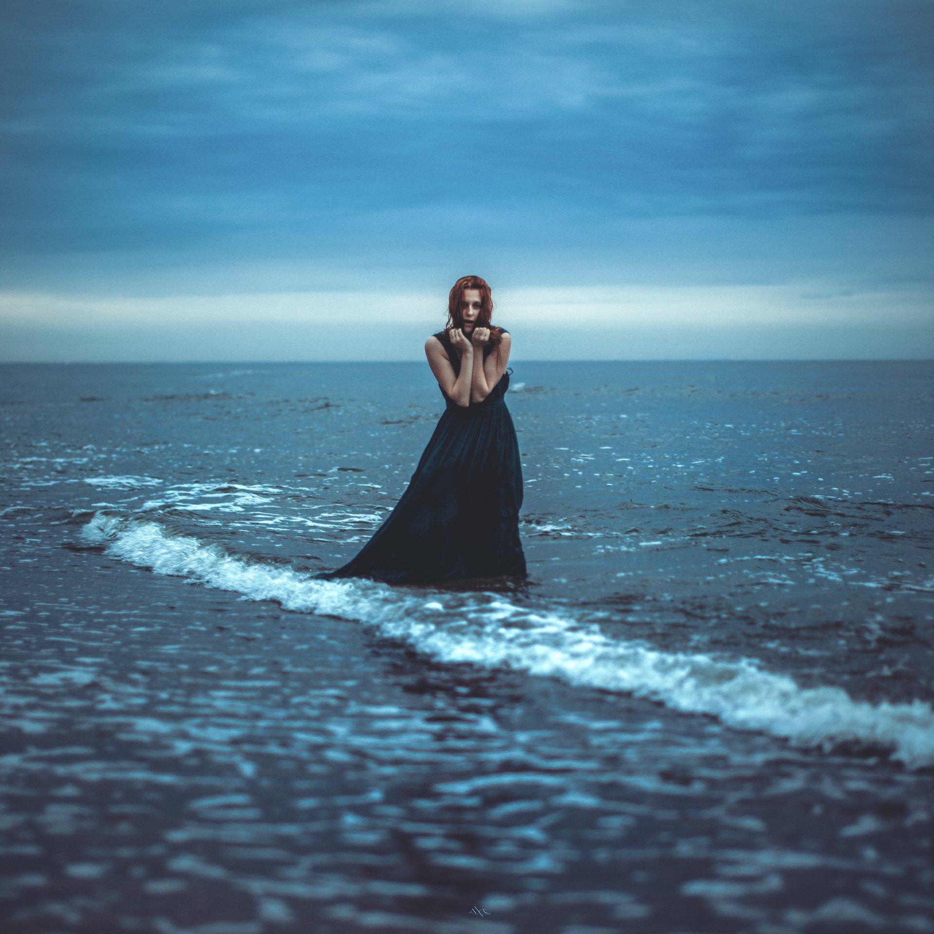 Portrait, Sea, Toning, Woman, Руслан Болгов (Axe)