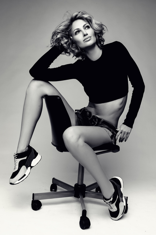 beauty, black & white, fashion, model, красавица, модель, образ, ч/б, Матросова Даша