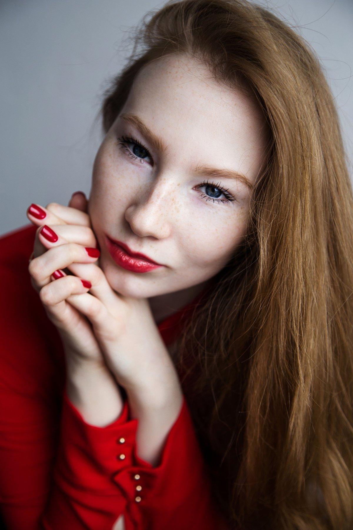 фото, девушка, рыжая, портрет, весна, Туркадзе Дарья