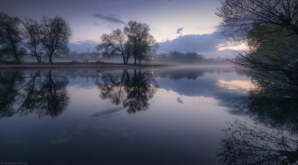 коростышев, пейзаж, река, туман, украина, утро, Александр Чорный