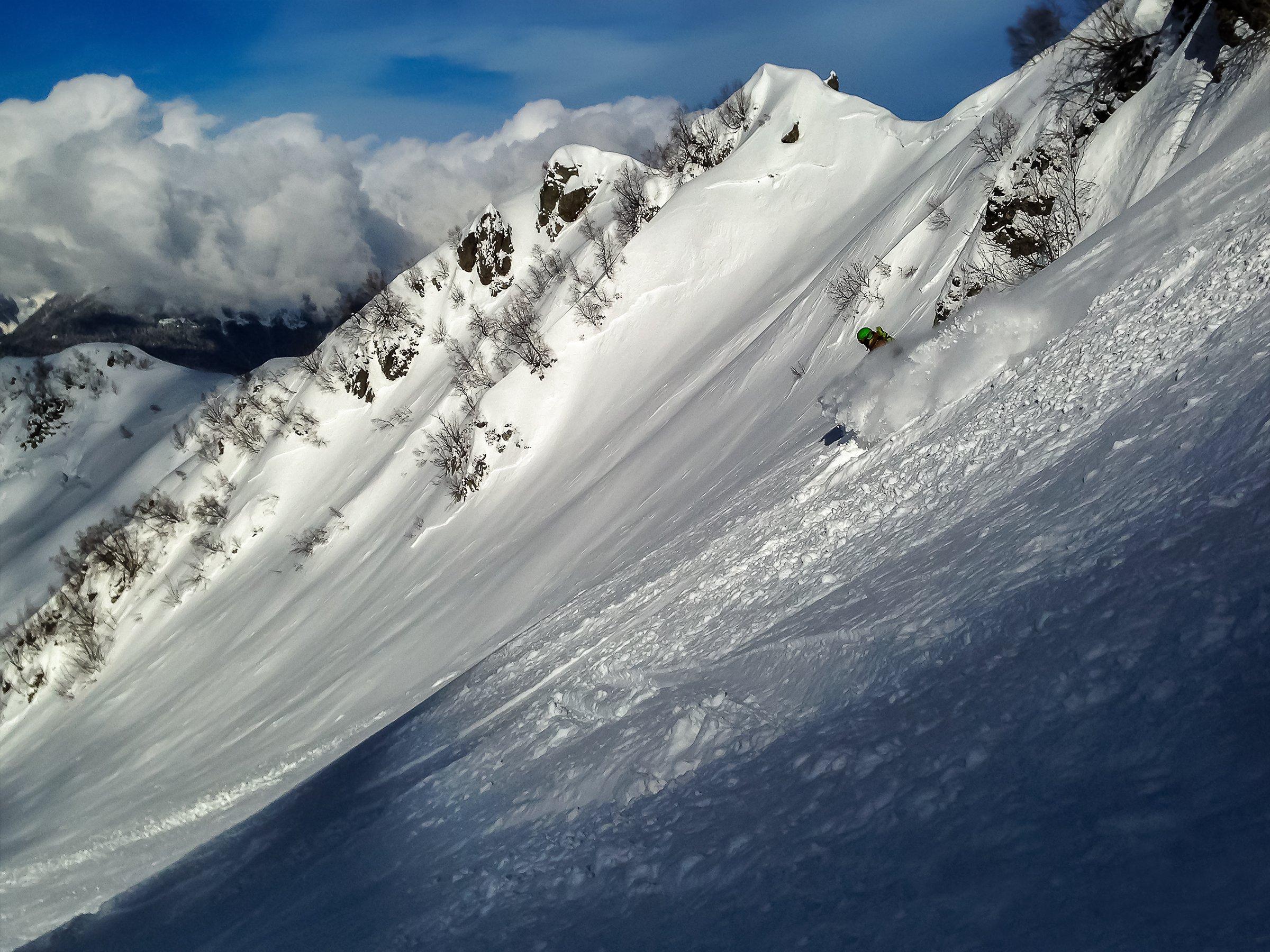 Роза Хутор, Красная Поляна, снег, горы, сноубордист, Дмитрий Лопатин