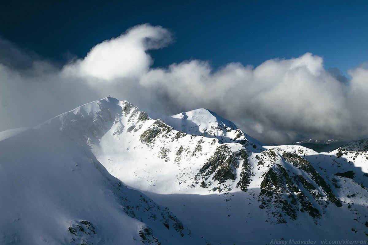 карпаты, мармаросы, горы,  зима, облака, украина, Алексей Медведев