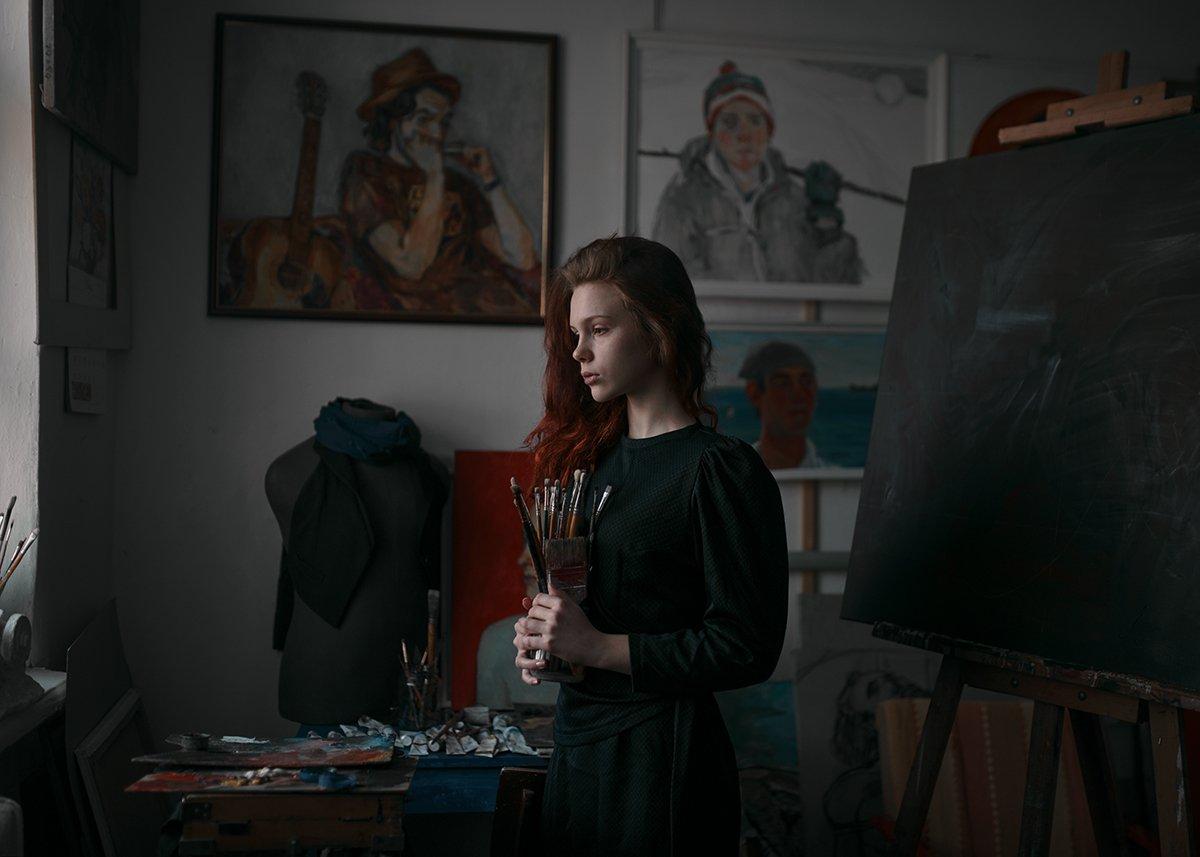 Popular, Portrait, Девушка, Портрет, Портрет девушки, Портфолио, Рыжая, Художник, Келина Ирина