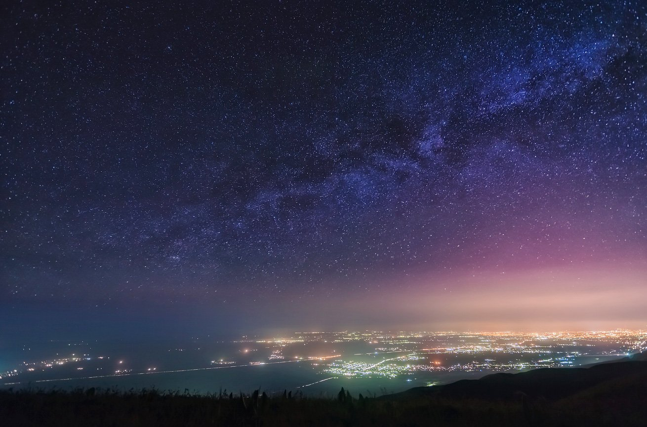 Звездная ночь, Млечный путь, Ночное небо, Ушконыр, Ольга Кулакова