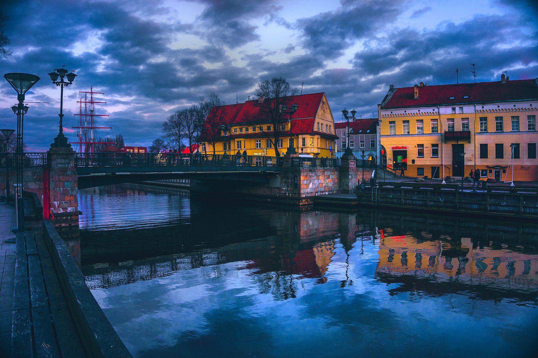 Evening, Klaipeda, Lithuania, Old city, Reflection, River, Руслан Болгов (Axe)